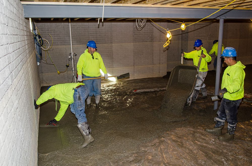 Pouring the Basement Floor